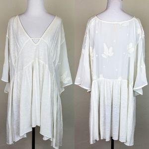 Free People Boho Gypsy Sheer Lace Tunic Dress